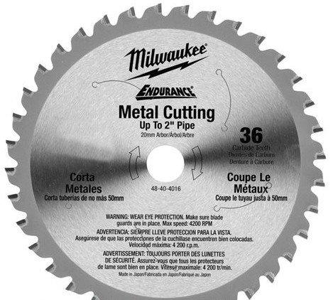 Диск для циркулярной пилы по металлу Milwaukee 203х1,8х15,87 мм (48404515)