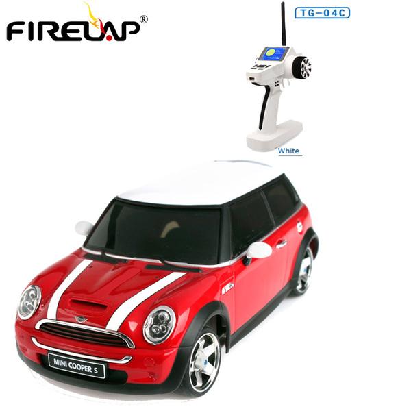 Радиоуправляемая модель Himoto Firelap IW04M Mini Cooper 4WD красный 1:28