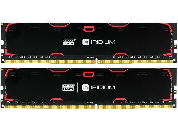 Модуль памяти для компьютера Goodram DDR4 8 GB 2400 MHz Iridium Black (IR-2400D464L15S/8GDC)