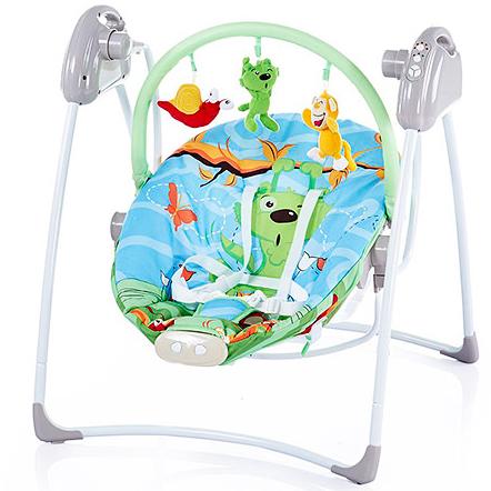 Кресло-качели Bambi M2130-5 Бирюзовый мишка