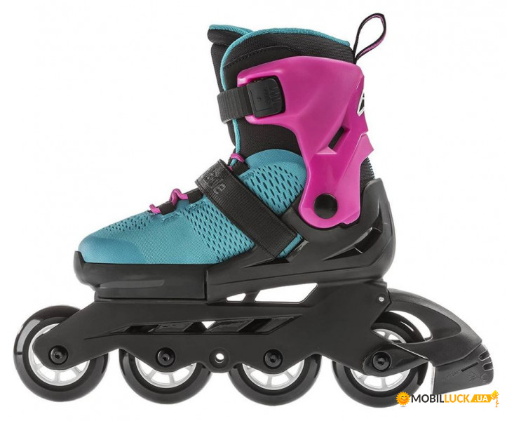0865babe563ed4 Ролики детские Rollerblade Microblade GS 2019 (Розово-бирюзовый, 28-32) 3