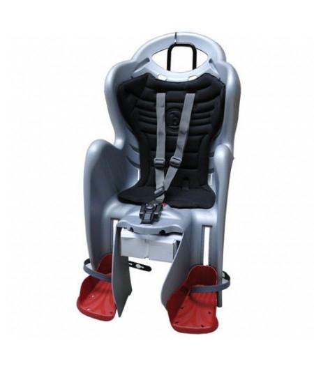 Сиденье заднее детское Bellelli Mr Fox Relax B-Fix до 22 кг Серое с красным