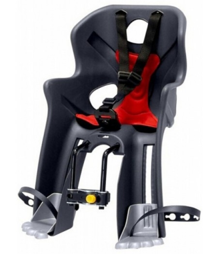 Сиденье переднее детское Bellelli Rabbit B-Fix до 15 кг Серое с красным