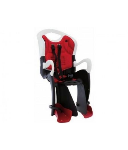 Сиденье заднее детское Bellelli Tiger Standart B-Fix до 22 кг Черно-белое с красным