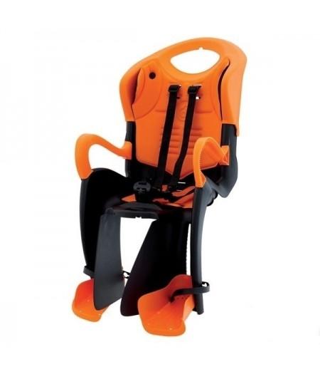 Сиденье заднее детское Bellelli Tiger Standart B-Fix до 22 кг Черное с оранжевым
