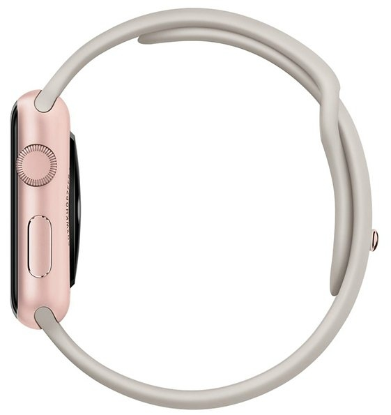 Смарт-часы Apple Watch Sport 42mm Rose Gold Aluminum Case with Stone Sport Band (MLC62)