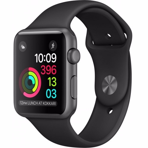 Смарт-часы Apple Watch Series 1 Sport 42mm Space Grey Aluminium Case with Black Sport Band (MP032)