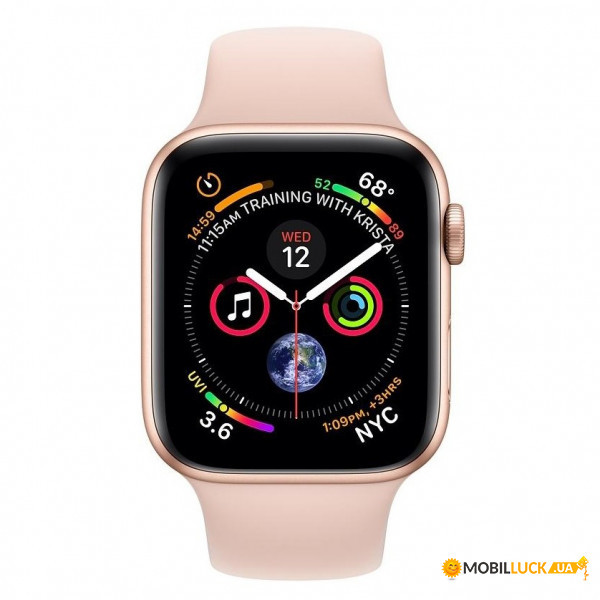 Смарт-часы Apple Watch Series 4 GPS 44mm Gold Alum (MU6F2)