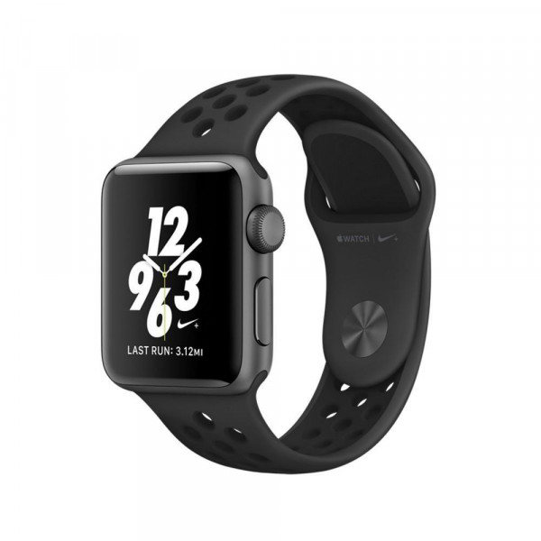 Смарт-часы Apple Watch Series 2 38mm Nike plus Gray Aluminum Case with Anthracite/Black Nike Sport Band (MQ162)