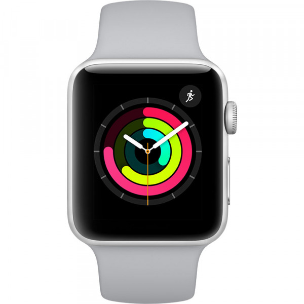 Смарт-часы Apple Watch Series 3 GPS 42mm Silver Aluminum Fog Sport Band (MQL02)