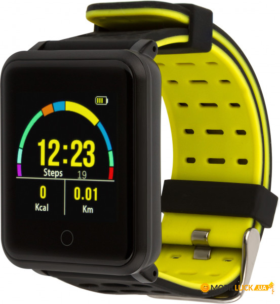 Фитнес браслет Atrix Pro Sport A950 IPS Pulse and AD Black-Yellow