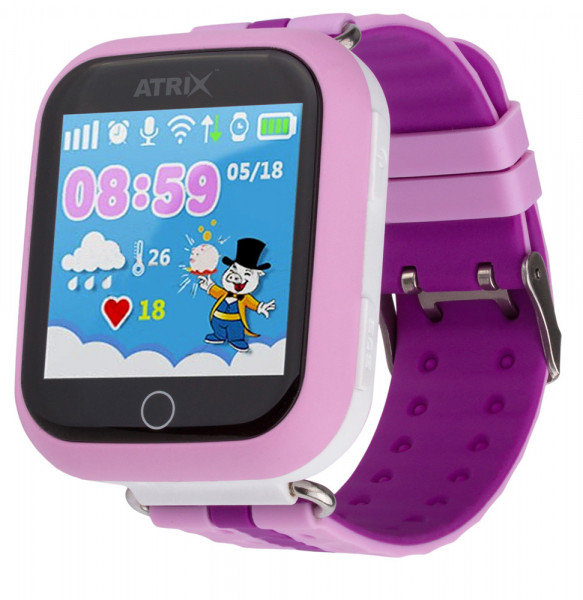 Смарт-часы Atrix Smart watch iQ100 Touch GPS Pink