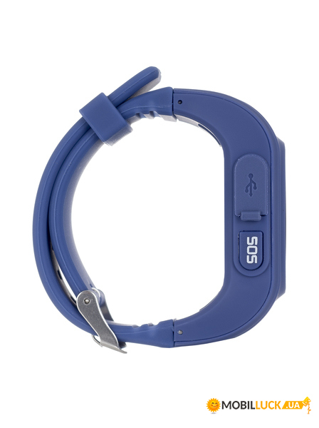 Смарт-часы детские Ergo GPS Tracker Kids K010 Dark Blue (GPSK010D)