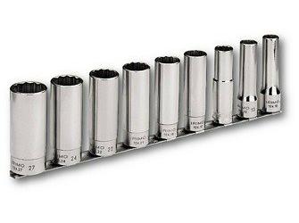 Набор головок торцевых Irimo 12-гранных удлиненных 1/2 10-27 мм 9 шт (P129821)
