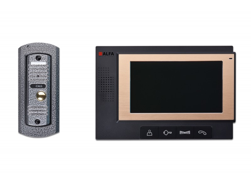 Видеодомофон Alfa DP-702 7 комплект Black (DP-702 Black)