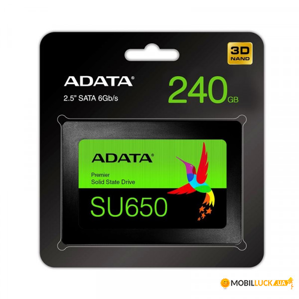 Накопитель SSD A-Data 2.5 SATA 240Gb Ultimate SU650 (ASU650SS-240GT-R)