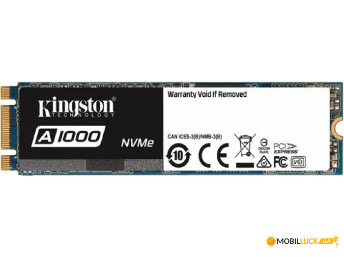 SSD накопитель Kingston A1000 480 GB (SA1000M8/480G)