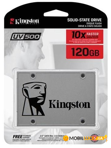 SSD накопитель Kingston UV500 2.5 120 GB (SUV500/120G)