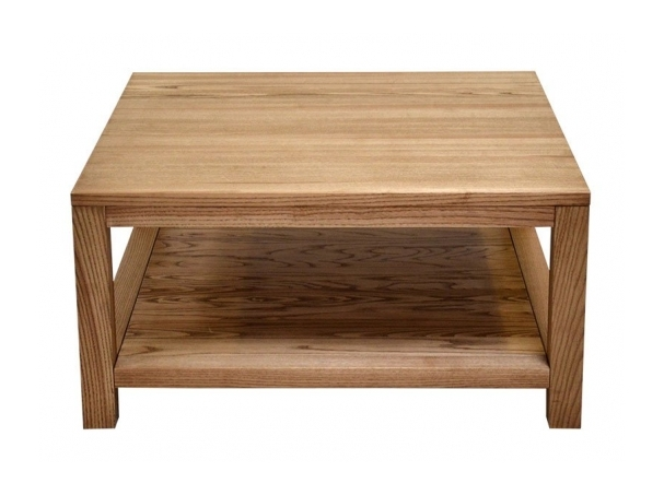 Стол журнальный Woodwerk Ассен с полкой 90x90x45 см