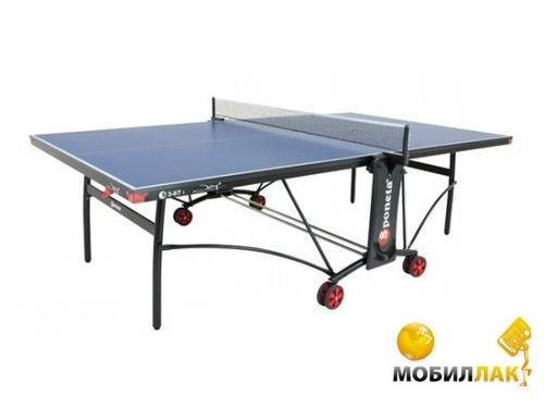 Теннисный стол Sponeta S 3 - 87 i Синий 19 мм опоры: белые/черные