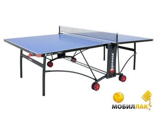 Теннисный стол Sponeta S 3 - 87 е Синий 5 мм опоры: белые/черные