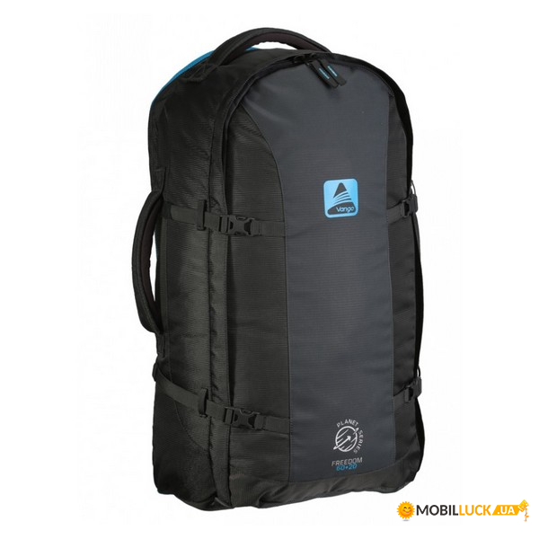 Рюкзак туристический Vango Freedom II 60+20 Carbide Grey/Volt Blue (925294)