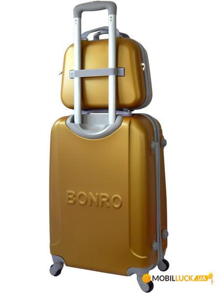 Комплект чемодан + кейс Bonro Smile небольшой Золотой (10110108 ... 2d591890e2b