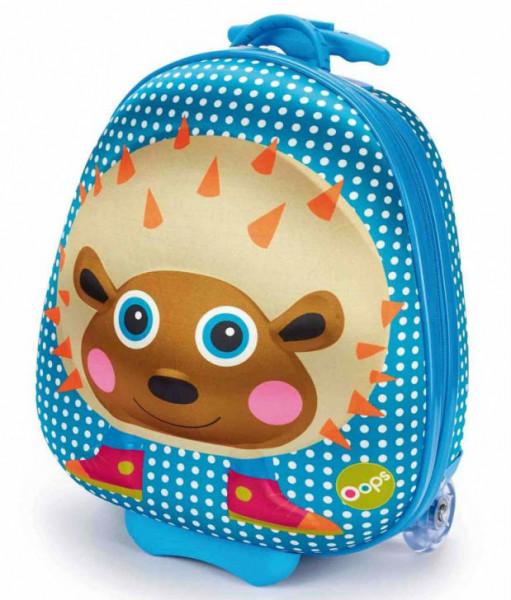 Детский чемодан на колесах Oops Путешествие ежика Уфика (OS3100324)