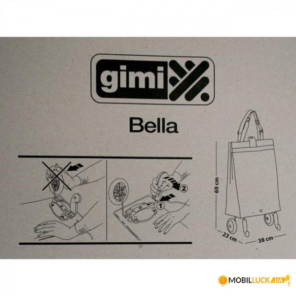 f80b64143d1a Сумка-тележка хозяйственная на колесах Gimi Bella 38 л Голубая (GM07840) 3