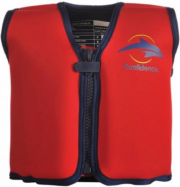 Плавательный жилет Konfidence Original Jacket Red/ Yellow 6-7 лет (KJ01LC)