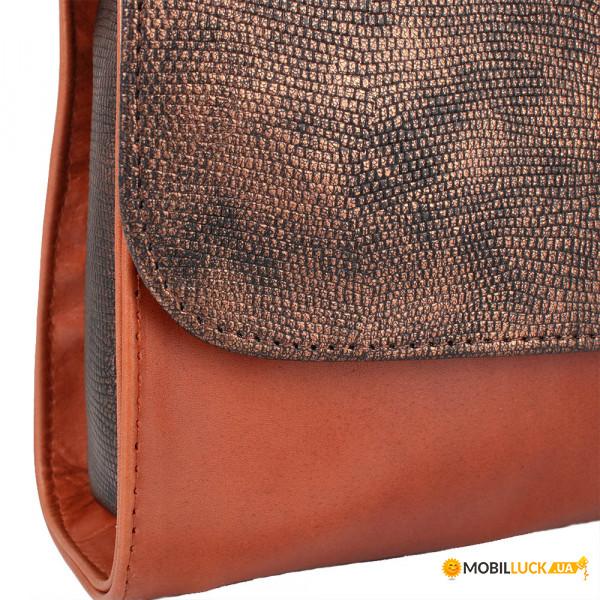 af4945959281 Женская сумка-клатч Laskara LK-DD220B-cognac-bronze. Купить Женская ...