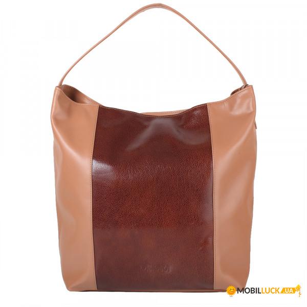 790aecf8fa05 Женская кожаная сумка Laskara LK-DS269-brown-choco. Купить Женская ...