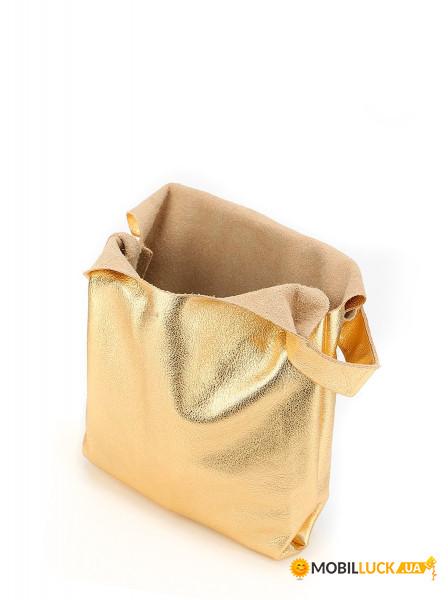 e289029277f4 Кожаная сумка Poolparty Tote Золотой (leather-tote-gold). Купить ...