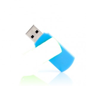 Флешка Goodram Colour Mix 8Gb Blue/White (UCO2-0080MXR11)