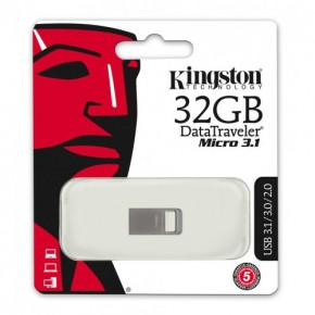 Флешка Kingston 32Gb DataTraveler Micro USB 3.1 DTMC3/32GB 6