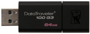 Флешка USB Kingston DT100 G3 64GB USB 3.0 (DT100G3/64GB) 6