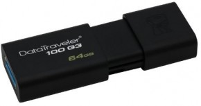 Флешка USB Kingston DT100 G3 64GB USB 3.0 (DT100G3/64GB) 9