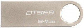 Флешка USB Kingston DTSE9 3.0 G2 64GB Metal Silver (DTSE9G2/64GB)