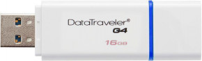 Флеш-память Kingston DataTraveler G4 16Gb USB 3.0 White 3