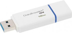 Флеш-память Kingston DataTraveler G4 16Gb USB 3.0 White 4
