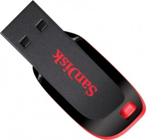 Флешка USB Sandisk Cruzer Blade 64GB Black Red (SDCZ50-064G-B35)