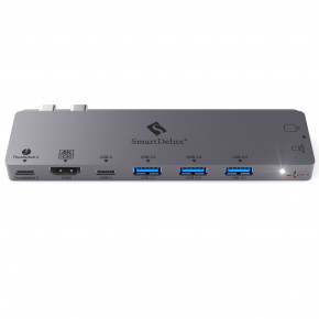 Фото Type-C-хаб AIRON SmartDelux Thunderbolt Pro 8-IN-1 multiport для MacBook Pro (86000150132)