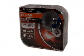 Автолампа Osram 64211NBU H11 Night Breaker Unlimited +110 55W 12V PGJ19-2 HardDuopet,