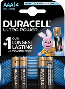 Батарейка Duracell Ultra Power AAA/LR03/MN2400