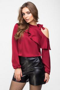 2861310ba5b Блузки бордового цвета - купить в интернет магазине mobilluck.com.ua ...