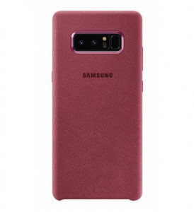 Чехол Samsung Note 8 Original Alcantara Cover Красный