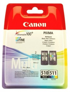 Картридж Canon PG-510+CL-511 Multipack Black+Colour 2970B010