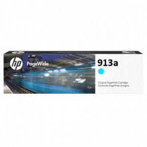 Картридж HP No.913A PageWide 352/377/452/477 Cyan (3000 стр) (F6T77AE)