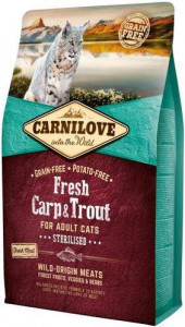 Корм для котов Carnilove Cat Fresh Carp & Trout Sterilised 2 кг (170877/7441)