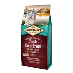 Корм для котов Carnilove Cat Fresh Carp & Trout Sterilised 6 кг (170878/7465)
